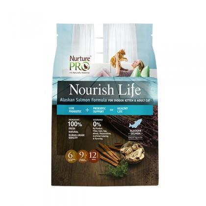 Nurture Pro Nourish Life Alaskan Salmon Formula For Indoor Kitten & Adult (Cat) - 4lb